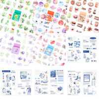Kawaii Cute Flower Diary Stickers for Crafts Scrapbooks and Journals Decor Lot