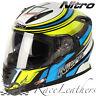 Nitro NRS-01 Torque Dvs Schwarz Gelb Blau Motorrad Helm