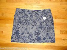 New Croft & Barrow Womens Skort Skirt w/Shorts Blue Floral 18W Cotton NWT $40