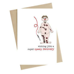 A Super Speedy Recovery Get Well Greeting Card by Dandelion Stationery Cards
