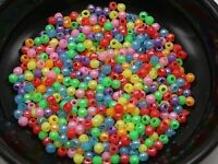 2000 Mixed Bright AB Color Acrylic Round Beads 3mm Smooth Ball Seed Beads