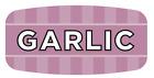 "Garlic Labels 1000 per Roll Food Store Flavor Stickers .625"" X 1.25"""