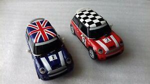 "CARRERA GO!!!    A PAIR OF BMW MINI COOPER ""S"" CARS    ( mains power )"