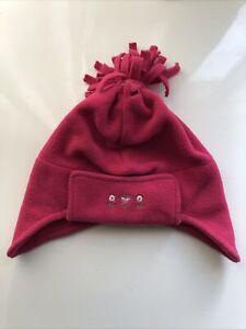 Baby Girls Pink Winter Warm Fleece 100% Polyester Hat Ear Warmer 6-12 Months