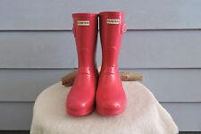 Women's Short Hunter Rain Boots Hot Pink Gloss Size 9