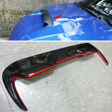 Carbon+ RED For Subaru WRX 4th Sedan STI V Style Hood Scoop Vent Cover Trim NEW