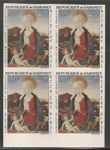 Dahomey #C48 (AP21) IMPERF BLOCK VF MNH - 1966 200fr Madonna by Baldovinetti
