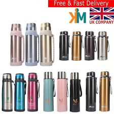 Water Bottles Double Wall Insulated Stainless Steel Thermos Flasks 500-1500ml