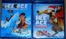 Kid Blu-ray LOt - ICE AGE Continental Drift (New) ICE AGE Christmas Special NEW