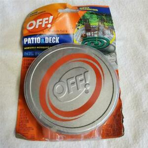 OFF! PATIO AND DECK Portable Mosquito Repellant Coil IV 3 Coils 3 Trays NEW