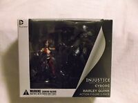 """Injustice Gods Among Us. Cyborg vs. Harley Quinn 3"""" Act. Figs.  DC Collectibles"""