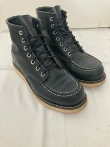 Red Wing Moc Toe Boots (8130) - Black Chrome Size US 5.5