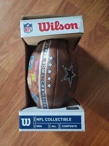 Wilson Dallas Cowboys Mini Superbowl 5x Football Composite Leather