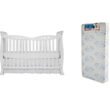 Convertible Baby Crib Toddler Kid Nursery Bed Furniture Bonus Mattress 7 In 1