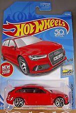 2018 Hot Wheels #271 Factory Fresh 5/10 '17 AUDI RS 6 AVANT Red w/5Y Spoke Whl
