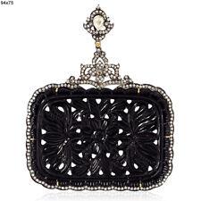 Onyx Diamond Pendant Gold Sterling SilverHalloween Sale Fashion Jewelry