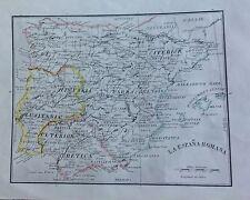 ESPAÑA, MAPA ORIGINAL, finales del siglo XIX