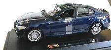 BURAGO 1:24 DIE-CAST AUTO ALFA ROMEO GIULIA BLU METALLIZZATO  ART 18-21080