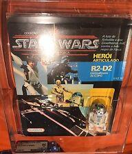 Vintage Star Wars 1988 R2-D2 Pop Up Saber AFA 60 Brazilian Glasslite Ultra Rare!
