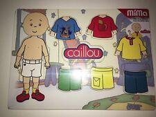 NEW CAILLOU DRESS UP PUZZLE WOOD PUZZLE MIMA GILBERT SHIRT SHORTS CAILLOU