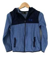 Under Armour Kids Boys Fleece Full Zip Jacket Size Youth Large Hooded Blue