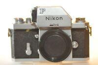 Nikon F Chrome Photomic FTN finder 35mm Film analog SLR camera