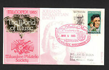 POSTAL HISTORY - The World of Music MILCOPEX '85  U.S. Cancelled Cachet Envelope