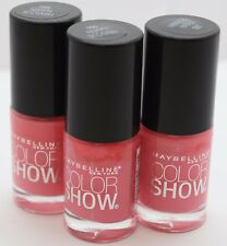 3 PK Maybelline Color Show Nail Polish 101 Hibiscus Haven .23 oz