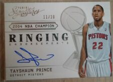 2013-14 Panini Signatures Ringing Endorsements #10 Tayshaun Prince/20 OC (Piston