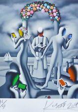 "MARK KOSTABI ""Till text do us apart"" 46/50 HAND SIGNED URBAN ART US ARTIST"