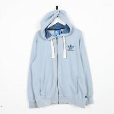 Vintage ADIDAS ORIGINALS Zip Up Hoodie Sweatshirt Blue Large L
