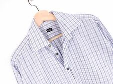 R868 Paul Smith Camisa Top Original Premium Hecho en Italia de Cuadros Talla 15