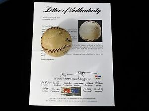 DIZZY DEAN PLAYING DAYS 1930'S SINGLE SIGNED BASEBALL ST LOUIS CARDINALS PSA/DNA