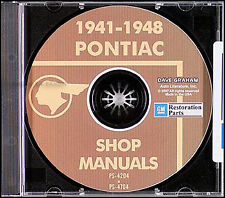 Pontiac Repair Shop Manual on CD 1941 1942 1946 1947 1948 Streamliner Torpedo