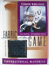 2001 LEAF CERTIFIED FABRIC OF THE GAME TYRONE WHEATLY Oakland Raiders (B 106)
