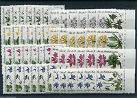 12 x Berlin Nr. 703 - 706 postfrisch Michel 84,00 € Motiv Blumen Sammlung MNH