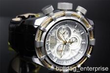 Mens Invicta 11043 Reserve Bolt Sport Elegant Chronograph Leather Watch New