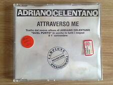 ADRIANO CELENTANO - ATTRAVERSO ME - RARO CD SINGOLO PROMO RADIO
