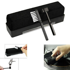 2 In 1 Cleaning Brush Record Needle Cleaning Brush for Phonograph Vinyl Records