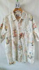 Vintage Men's Hawaiian Shirt Blue Water Wear Xl 100% Cotton, Hula Girls