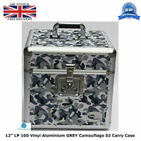 "NEO ZILLA Flight DJ Carry Case to Store 100 LP 12"" Vinyl Record CAMO GREY TOUGH"