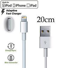 Apple iPhone 5 6 7 8 PLUS SE X iPad mini Pro iPod 20cm Fast data charger cable