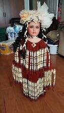 30 Inch Tall 1999 Standing Rustie Native American Indian Porcelain Girl Doll #23
