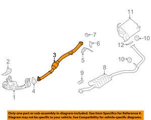 SUBARU OEM 2015 Impreza 2.0L-H4 Exhaust System-Front Pipe 44620AE050
