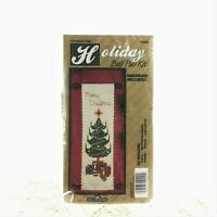 Traditions - 14 Ct Cross Stitch Kit - CHRISTMAS TREE - Bell Pull - Hardware