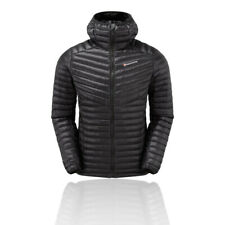 Montane Mens Future Lite Hoodie Black Sports Outdoors Full Zip Hooded Warm Water