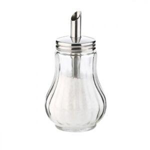 Tescoma Zuckerdosierer Zuckerstreuer Streuer für Zucker aus Glas Edelstahl