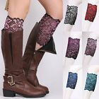 Women Stretch Lace Boot Cuffs Flower Leg Warmers Lace Trim Toppers Socks Popular