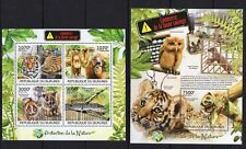 Burundi 2012 MNH MS+SS, Birds. Owl, Tiger, Monkey Reptiles, Protect Nature (E13)