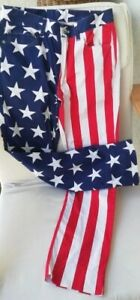 Vintage Loudmouth Golf Pants American Flag Pants 4th Of July 30x30 L